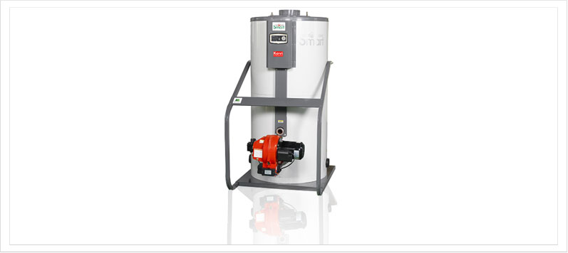 Vertical medium sized oil and gas boiler