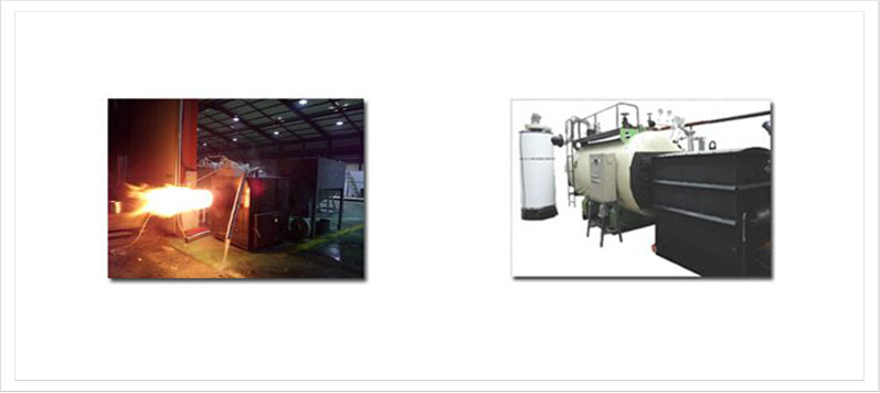 Industrial pellet steam boiler